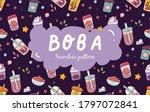 bubble tea seamless pattern... | Shutterstock .eps vector #1797072841
