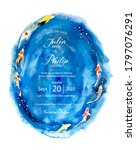 wedding invitation card on...   Shutterstock .eps vector #1797076291