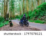 Motorcycle Rider Isolated On...