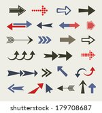 arrow set  retro style  | Shutterstock .eps vector #179708687
