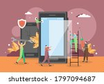 tiny male characters... | Shutterstock .eps vector #1797094687