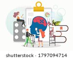 doctors physical therapist and... | Shutterstock .eps vector #1797094714