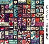 seamless pattern. sampler... | Shutterstock .eps vector #179709491