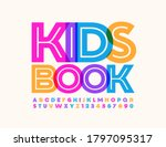 vector colorful sign kids book. ...   Shutterstock .eps vector #1797095317
