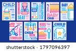 baby accessories advertising... | Shutterstock .eps vector #1797096397