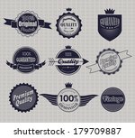 set of retro vintage labels. | Shutterstock . vector #179709887