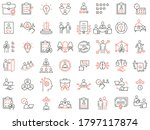 vector set of linear icons... | Shutterstock .eps vector #1797117874