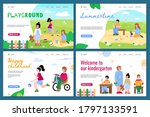 set of web page templates for... | Shutterstock .eps vector #1797133591