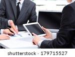 close up of a modern business... | Shutterstock . vector #179715527