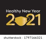 healthy new year poster   gold... | Shutterstock .eps vector #1797166321