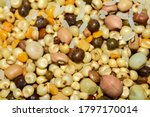 Different Kinds Of Grains Mixe...