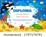 Kids Diploma With Underwater...