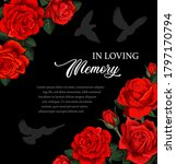 funeral vector card with red... | Shutterstock .eps vector #1797170794
