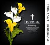 funeral vector card with calla... | Shutterstock .eps vector #1797170887