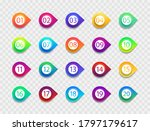 bullet with number. icon with... | Shutterstock .eps vector #1797179617