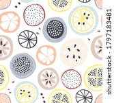 seamless fruit pattern with...   Shutterstock .eps vector #1797183481