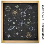 set of space objects sketch on... | Shutterstock .eps vector #179718845