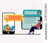 customer service illustration ... | Shutterstock .eps vector #1797191947