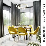 Luxury Modern Dinning Room...