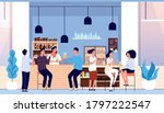 friends in beer bar. flat... | Shutterstock .eps vector #1797222547