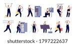 electricity workers.... | Shutterstock .eps vector #1797222637