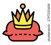 museum crown icon. outline... | Shutterstock .eps vector #1797231604
