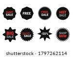 starburst sticker set for promo ... | Shutterstock .eps vector #1797262114