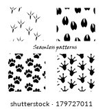 animal tracks  seamless... | Shutterstock .eps vector #179727011