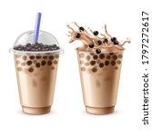 bubble tea. bubbles milk drinks ...   Shutterstock .eps vector #1797272617