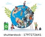 people clean planet. globe in... | Shutterstock .eps vector #1797272641