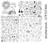 weather symbols | Shutterstock .eps vector #179727404