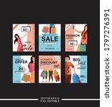 sale template or poster design... | Shutterstock .eps vector #1797276391