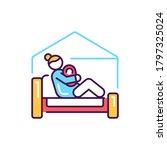 home birth color line icon....