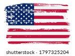 grunge american flag. old... | Shutterstock .eps vector #1797325204