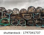 Stack Of Used Fishing Traps And ...