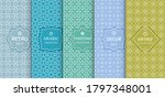 set of seamless line patterns ... | Shutterstock .eps vector #1797348001