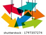 concept of the difficulty of... | Shutterstock .eps vector #1797357274