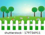 easter landscape eps10 | Shutterstock .eps vector #179736911