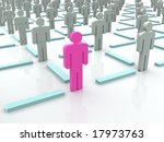 silhouettes of people. 3d | Shutterstock . vector #17973763