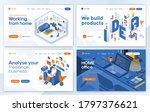 set of landing page design... | Shutterstock .eps vector #1797376621