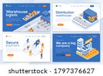 set of landing page design... | Shutterstock .eps vector #1797376627
