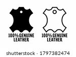 """100  genuine leather"" item... 