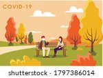 new normal autumn covid19... | Shutterstock .eps vector #1797386014