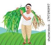 illustration of happy indian... | Shutterstock .eps vector #1797390997