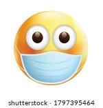 high quality emoticon on white... | Shutterstock .eps vector #1797395464
