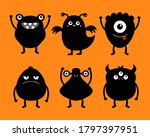 monster black silhouette icon... | Shutterstock .eps vector #1797397951