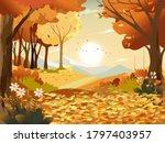 autumn landscape wonderland... | Shutterstock .eps vector #1797403957