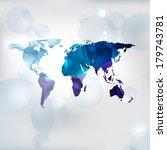 edgy world map.  vector... | Shutterstock .eps vector #179743781