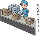 man have a packing work   Shutterstock .eps vector #179746169