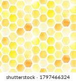 Watercolor Drawing  Honeycomb...